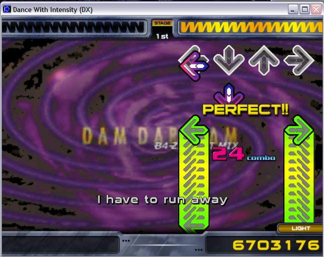 Dance With Intensity main screen